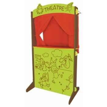 Théatre de marionnette bois et tissu Au Sycomore -MTH3502