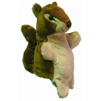 Marionnette peluche ecureuil 23 cm Au Sycomore -PEL60063