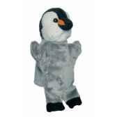 marionnette peluche pingouin 23 cm au sycomore pel60310