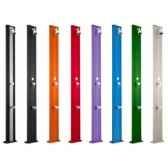 douche solaire spring s coloris bois avec rince pied aluminium droite poolstar ds a220bw