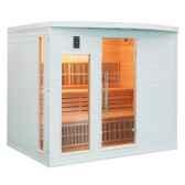 sauna infra rouge soleiblanc 5 places poolstar sn soleilb5
