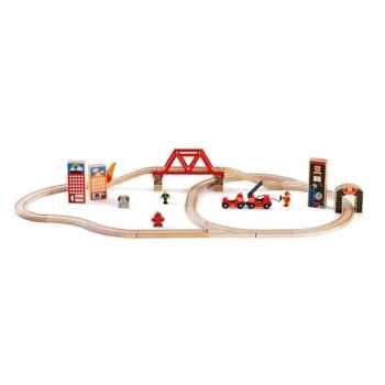 Coffret circuit bois pompiers - Brio 33013000
