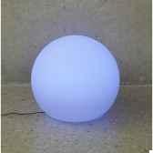 sphere light batterie led diametre 60 blanc new garden newgarden80
