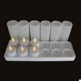 set de 12 bougies led rechargeables produits zen sclr12