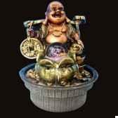 fontaine d interieur en resine bouddha rieur produits zen scfr18