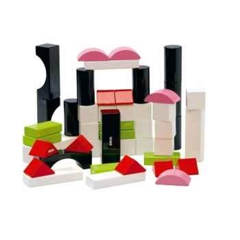 Cubes bois couleur - Brio 30156000