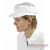 casquette maille aeree serge polyester 250 g m coloris blanc creation talbot pm248