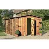 garage albatros bois traite chalet jardin