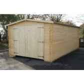 garage 350x600 chalet jardin