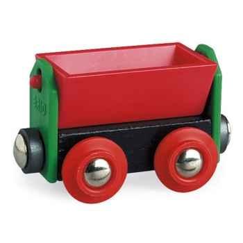 Wagon bois basculant rouge - Brio 33614000