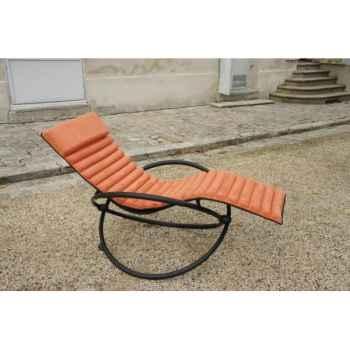 mobilier de jardin  bain soleil swing futon coussin terracotta chalet