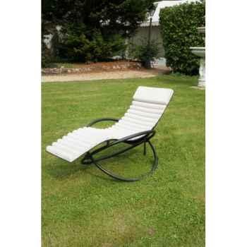mobilier de jardin  bain soleil swing futon coussin beige chalet