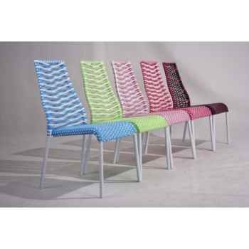 Chaise empilable rouge Chalet Jardin -35-902275