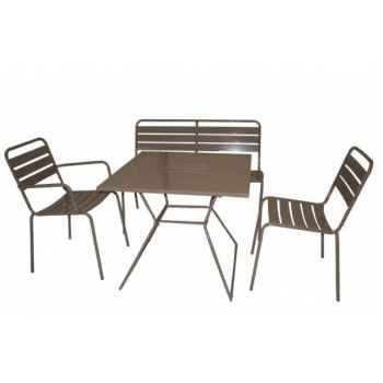 Table carrée taupe Chalet Jardin -35-902374