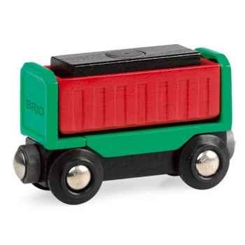 Wagon bois avec chargement - Brio 33546000