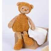 peluche mon doudou en balade doudou ours avec porte doudou jean ho1319