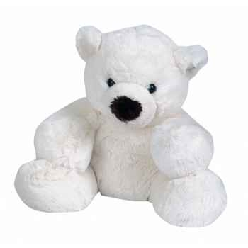 Peluche Ours naissance blanc moyen modèle -ho1267