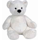 peluche ours naissance blanc petit modele ho1266