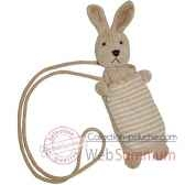 les petites marie peluche collection maille chenille porte telephone lapin