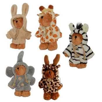 Les Petites Marie - Peluche collection Ti Zours, Lot de 5 ours articulés dont un d\'offert !