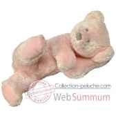 les petites marie peluche retro ours rosalie couleur rose