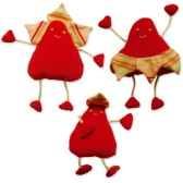 les petites marie peluche petale rouge famile papa maman et bebe