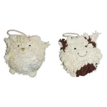 Les Petites Marie - Collection Boule, Lot de 2 boules Mouton et Vache