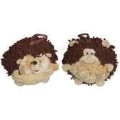 les petites marie collection boule lot de 2 boules herisson et singe