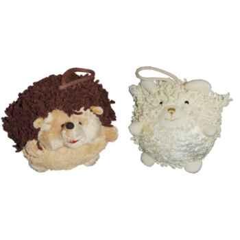 Les Petites Marie - Collection Boule, Lot de 2 boules Hérisson et Mouton
