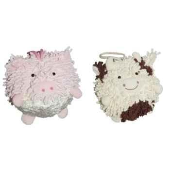 Les Petites Marie - Collection Boule, Lot de 2 boules Cochon et Vache