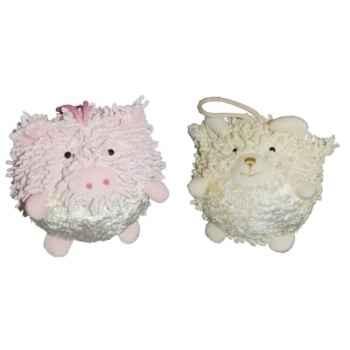 Les Petites Marie - Collection Boule, Lot de 2 boules Cochon et Mouton