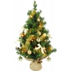Mini sapin diy illuminé pliable vert or 60 cm Everlands -NF -671820