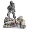 Figurines étains Sapeur pompier volontaire avec enfant-France -FW017