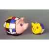 Figurine ménagerie géométrique - cochons  - meg09