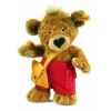 Peluche steiff ours teddy knopf, brun doré -014444