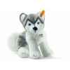 Peluche steiff husky bernie, gris/blanc -104978