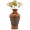 Vases-Modèle Ginko Vase, surface bronze avec vert-de-gris-bs3263vb