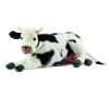 Anima - Peluche vache couché noire et blanche 35 cm -4781