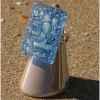Bijouxenverre-Bague avec anneau ajustable en plaqué argent 20 microns-08BRE
